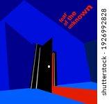 half open door from the dark... | Shutterstock .eps vector #1926992828
