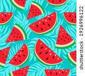 Watermelons With Black And...