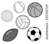 sports balls in grey scale ... | Shutterstock .eps vector #192702725