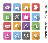 colored web icons with shadow ...   Shutterstock .eps vector #192703202