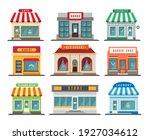 shops stores exteriors. laundry ...   Shutterstock .eps vector #1927034612
