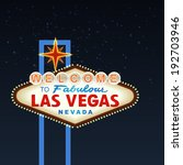night las vegas sign. vector | Shutterstock .eps vector #192703946