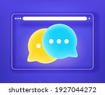 simple flat browser window with ... | Shutterstock .eps vector #1927044272
