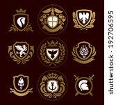 heraldic signs  heraldic... | Shutterstock .eps vector #192706595