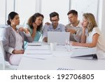 casual business team having a... | Shutterstock . vector #192706805