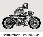 skeleton racer riding brat... | Shutterstock .eps vector #1927068635