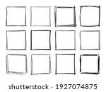 hand drawn frames. handdrawn... | Shutterstock .eps vector #1927074875