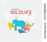 world wildlife day posters ... | Shutterstock .eps vector #1927083605