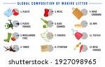 top debris items found in the...   Shutterstock .eps vector #1927098965