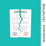 contract break. breach and... | Shutterstock .eps vector #1927107458