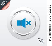 mute speaker sign icon. sound...