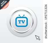 retro tv sign icon. television...
