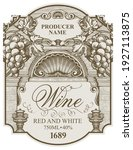 vector wine label with bunches...   Shutterstock .eps vector #1927113875