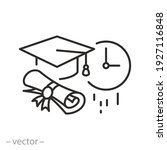 graduate time icon  education... | Shutterstock .eps vector #1927116848