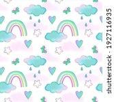 seamless children's pattern... | Shutterstock . vector #1927116935