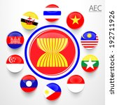 aec  asean economic community...   Shutterstock .eps vector #192711926