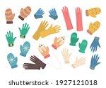 cartoon color different gloves...   Shutterstock .eps vector #1927121018