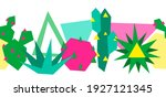 seamless pattern with cacti and ... | Shutterstock .eps vector #1927121345