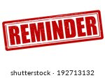 stamp with word reminder inside ...   Shutterstock .eps vector #192713132
