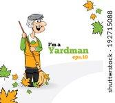 old yardman character... | Shutterstock .eps vector #192715088
