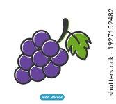 garden fresh grape icon. grape... | Shutterstock .eps vector #1927152482