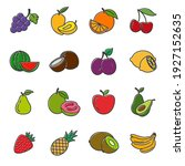set of fruits icon. fruits pack ... | Shutterstock .eps vector #1927152635