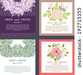 wedding invitation cards with... | Shutterstock . vector #192715355