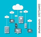 cloud computing concept design. | Shutterstock .eps vector #192716402