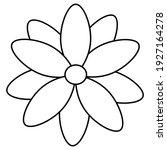 vector flower in line style on...   Shutterstock .eps vector #1927164278