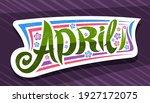 vector banner for april  white... | Shutterstock .eps vector #1927172075