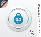 weight sign icon. 0.1 kilogram  ...