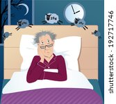 middle age man with insomnia... | Shutterstock .eps vector #192717746
