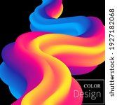 color waves background. fluid... | Shutterstock .eps vector #1927182068