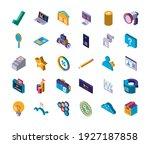 set digital solutions laptop... | Shutterstock .eps vector #1927187858