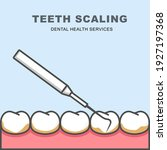 tooth scaling icon   row of... | Shutterstock .eps vector #1927197368