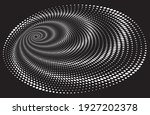 dotted halftone vector spiral... | Shutterstock .eps vector #1927202378
