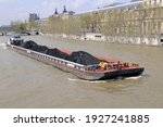Coal Barge And Tugboat On The...