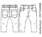 baby boys 5 pockets pant... | Shutterstock .eps vector #1927244888