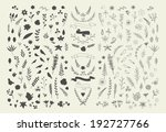 hand drawn vintage floral... | Shutterstock .eps vector #192727766