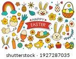 happy easter elements design....   Shutterstock .eps vector #1927287035