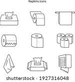 napkin icons. tissue paper box...