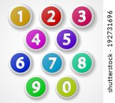 numbers set  colorful web icon... | Shutterstock .eps vector #192731696