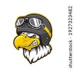 pilot eagle bird vector mascot... | Shutterstock .eps vector #1927323482