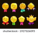 level up ui game icons  casino... | Shutterstock .eps vector #1927326095