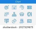 premium set of chart line icons....