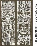 beautiful african masks. ethnic ... | Shutterstock .eps vector #1927337942