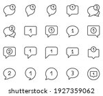 comment design icons set. thin...   Shutterstock .eps vector #1927359062