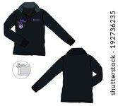 knitted polo neck sweatshirt... | Shutterstock .eps vector #192736235