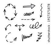 vector set of hand drawn arrows ... | Shutterstock .eps vector #1927371878