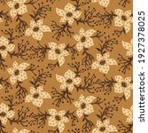 seamless tribal floral pattern... | Shutterstock .eps vector #1927378025
